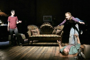 """Beth Malone, Sydney Lucas,  and Michael Cerveris in """"Fun Home"""""""