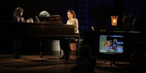 """Judy Kuhn and Sydney Lucas in """"Fun Home"""""""